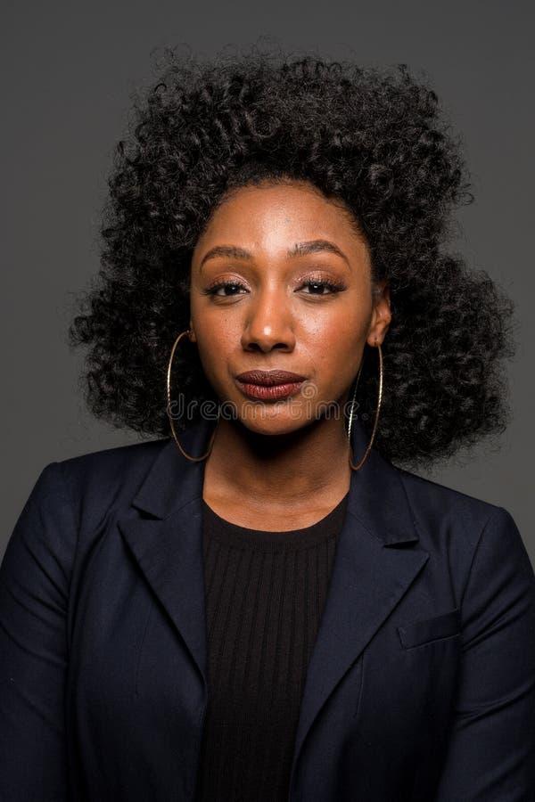 非洲裔美国人的妇女年轻人 免版税库存图片