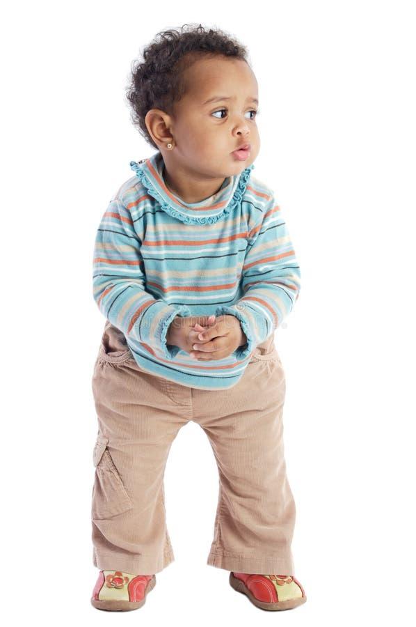 非洲裔美国人的婴孩 免版税库存照片