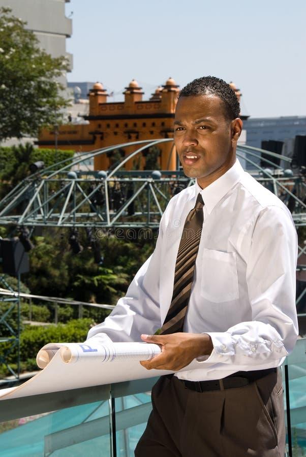 非洲裔美国人的建筑师 库存图片