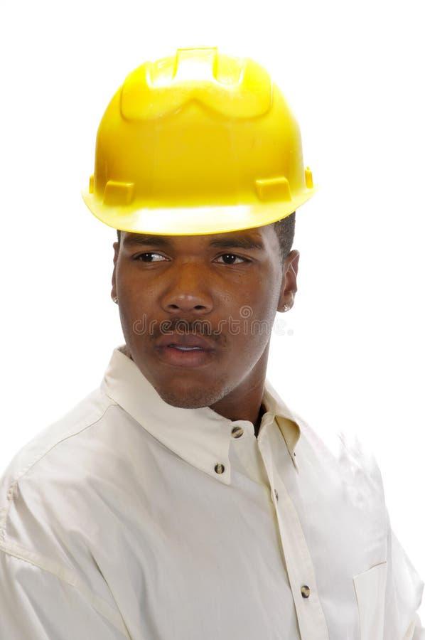非洲裔美国人的承包商年轻人 库存照片