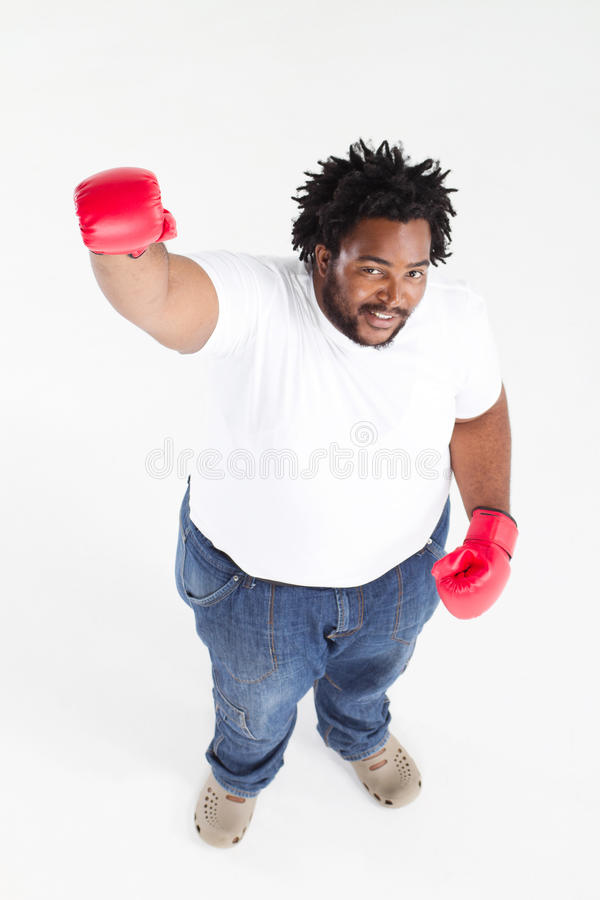 非洲裔美国人的拳击 免版税库存图片