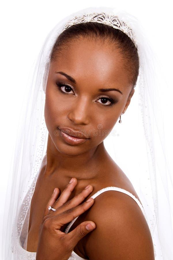 非洲裔美国人的新娘 免版税库存照片