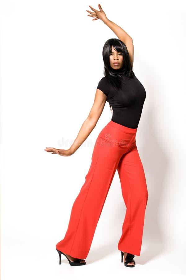 非洲裔美国人的有吸引力的女孩年轻& 图库摄影