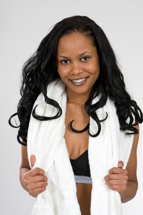 非洲裔美国人的服装炫耀妇女年轻人 库存照片