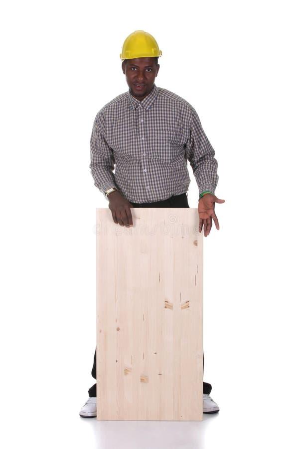 非洲裔美国人的木匠年轻人 免版税库存照片