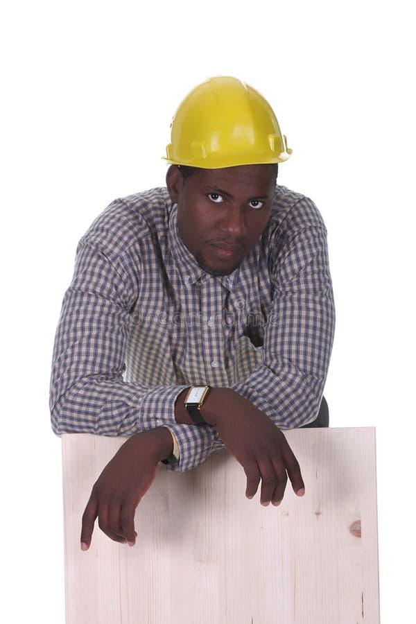 非洲裔美国人的木匠年轻人 库存图片