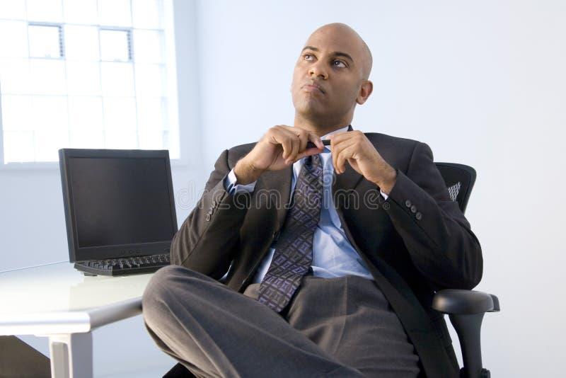 非洲裔美国人的生意人 库存图片