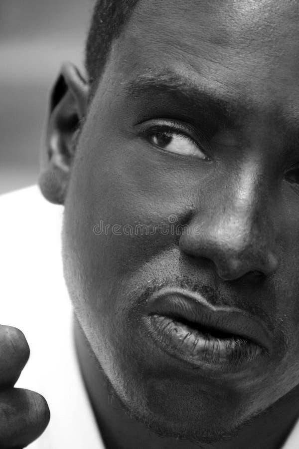 非洲裔美国人的男性纵向 库存照片
