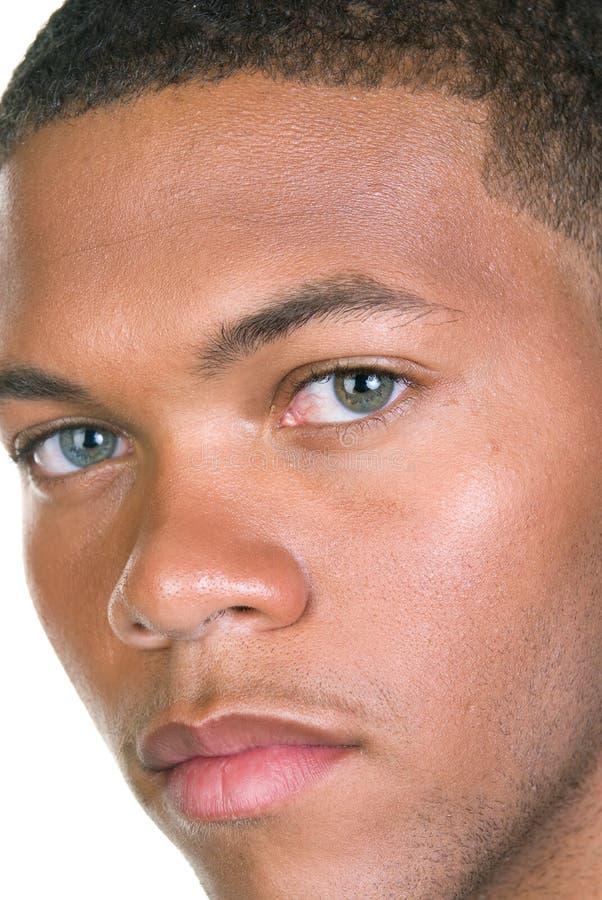 非洲裔美国人的男性纵向 免版税图库摄影