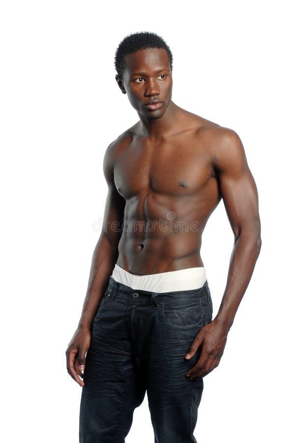 非洲裔美国人的男性youmg 库存图片