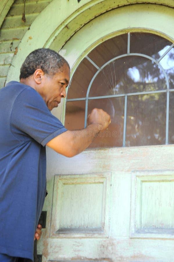 非洲裔美国人的男 免版税库存照片
