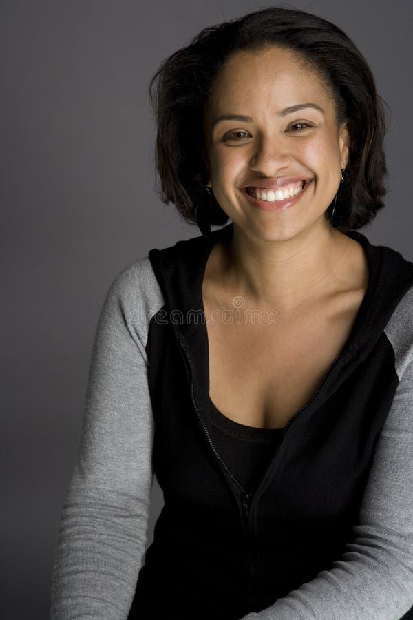非洲裔美国人的确信的妇女 免版税库存照片