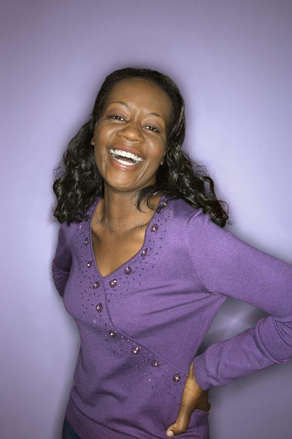 非洲裔美国人的纵向妇女 免版税库存图片
