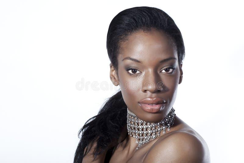非洲裔美国人的美丽的妇女 库存照片