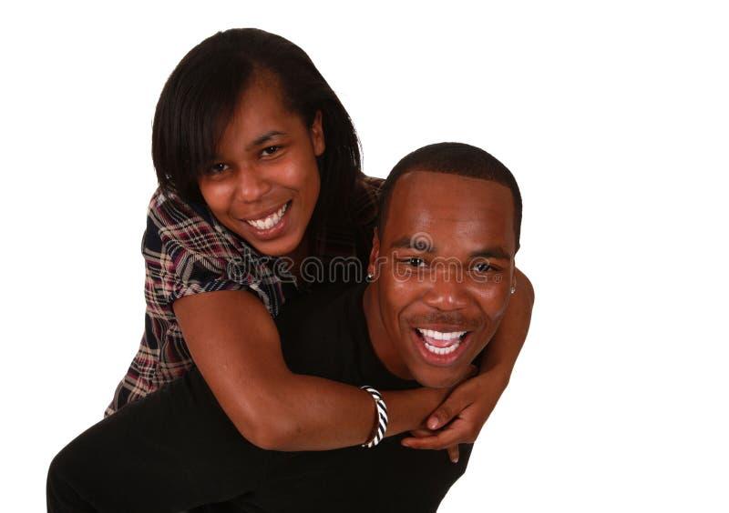 非洲裔美国人的美好的夫妇 免版税库存照片
