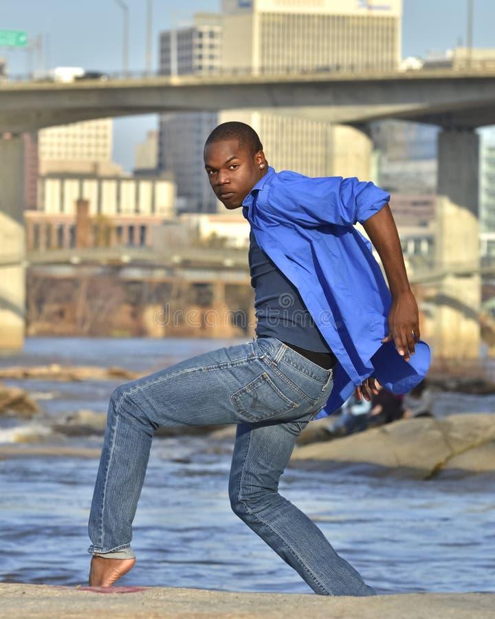 非洲裔美国人的舞蹈演员设计里士满V 库存图片
