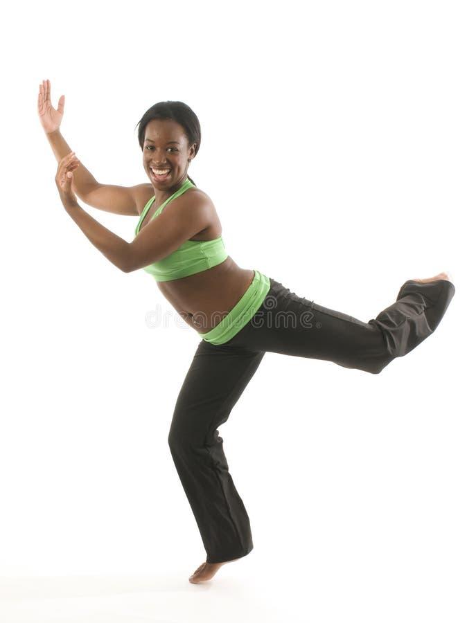 非洲裔美国人的舞蹈讲西班牙语的美&# 免版税库存照片