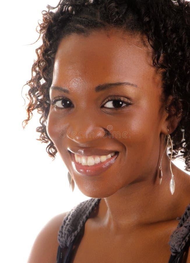 非洲裔美国人的迷人的妇女 免版税库存图片