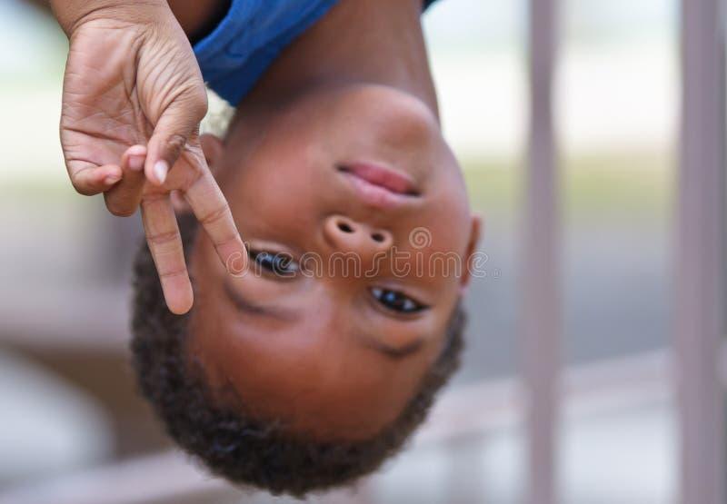 非洲裔美国人的黑色男孩年轻人 免版税库存照片