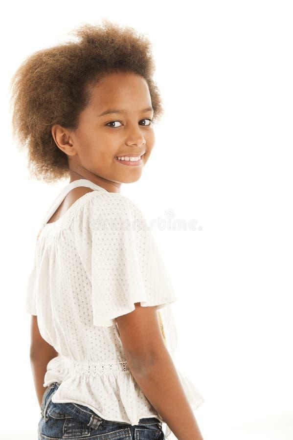 非洲逗人喜爱的女孩 免版税图库摄影