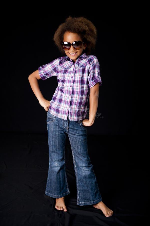 非洲逗人喜爱的女孩 免版税库存照片