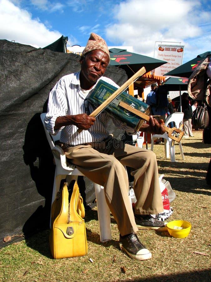 非洲音乐家南街道 免版税库存图片