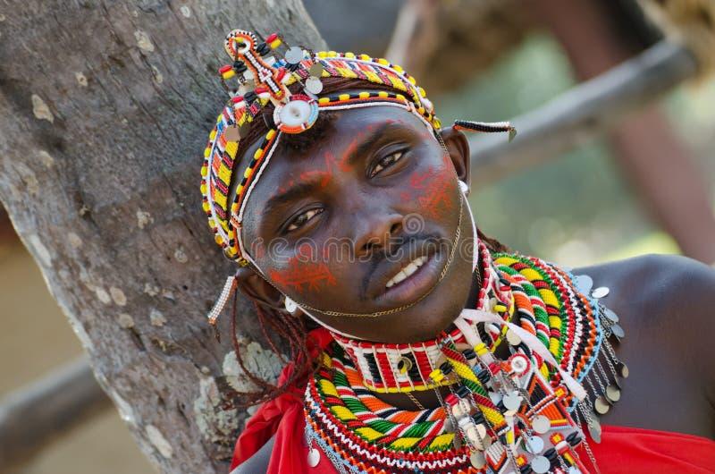非洲马塞语 图库摄影
