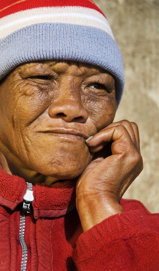 非洲高级妇女 免版税库存图片