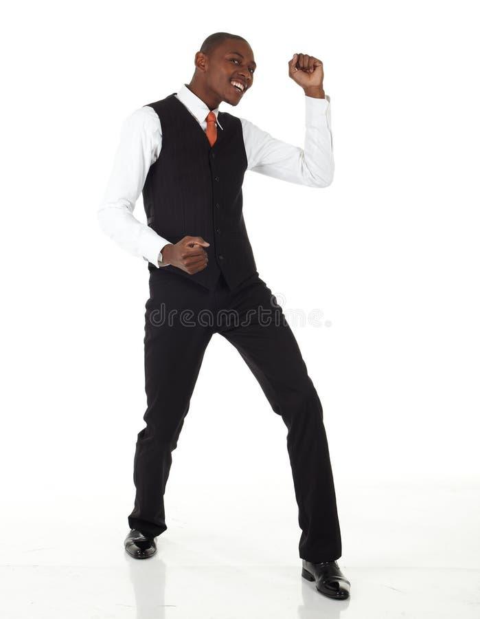 非洲黑色生意人 免版税库存照片
