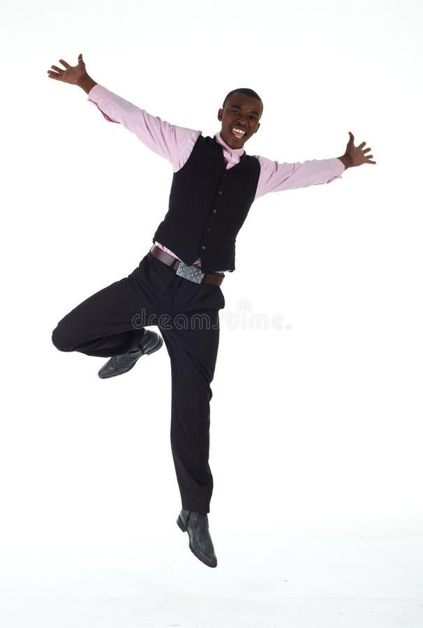 非洲黑色生意人 免版税图库摄影
