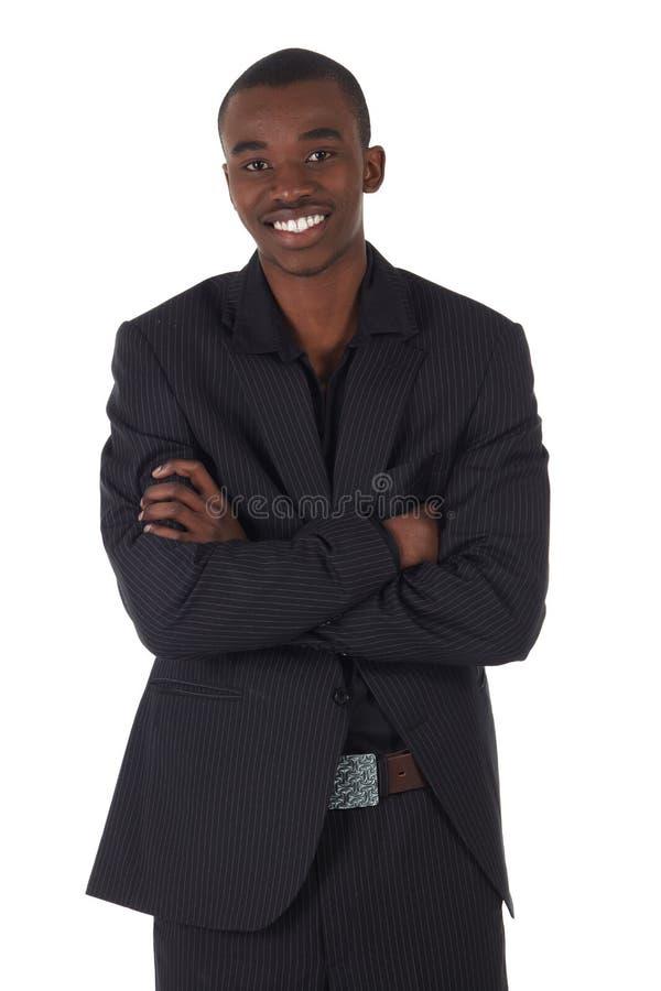 非洲黑色生意人 库存照片