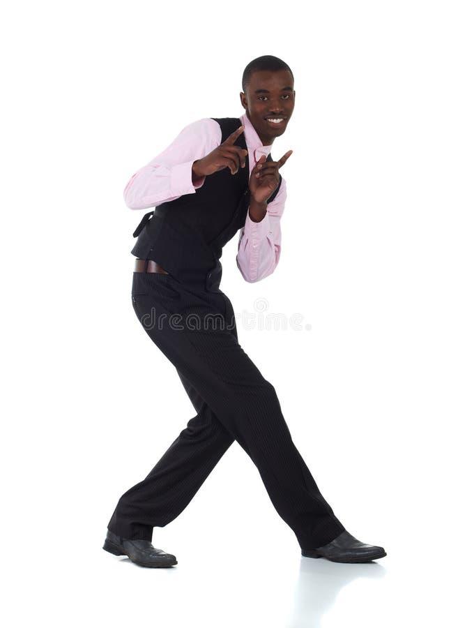非洲黑色生意人 免版税库存图片