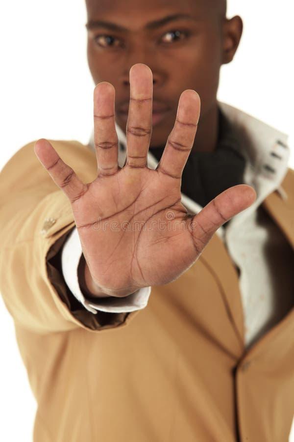 非洲黑色生意人 库存图片