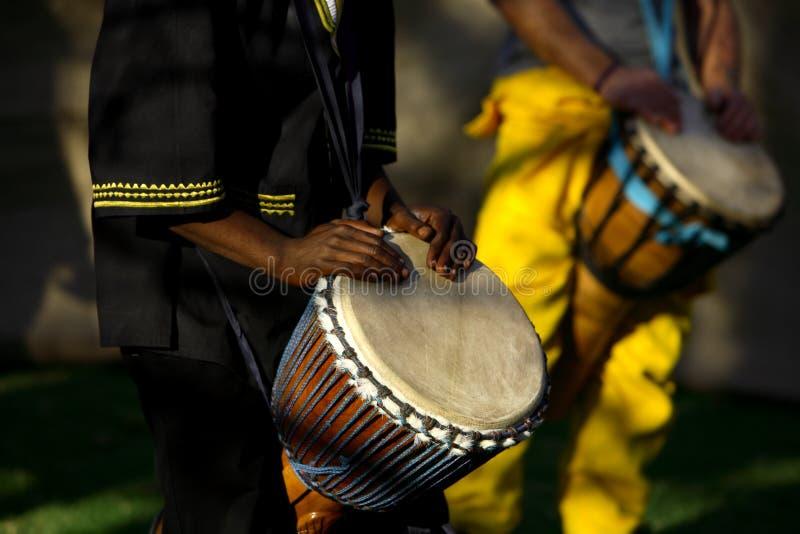 非洲鼓手 免版税库存照片