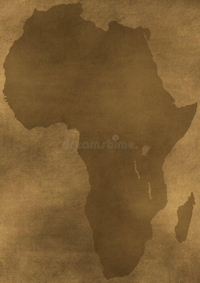 非洲grunge老例证映射 库存例证