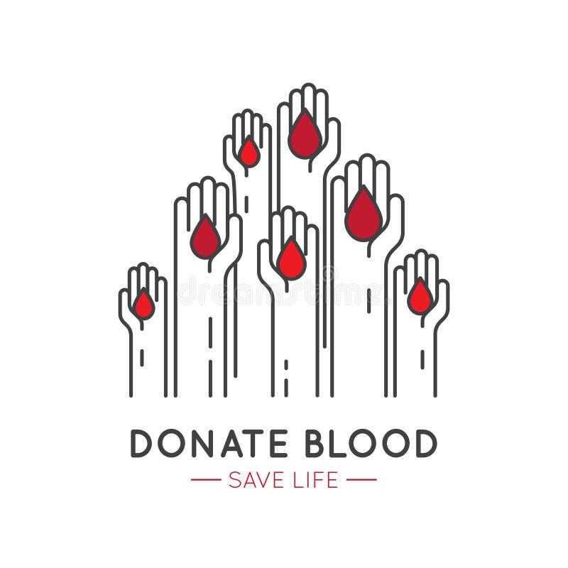 非盈利性组织和捐赠中心的元素 筹款的标志 Crowdfunding项目标签 皇族释放例证