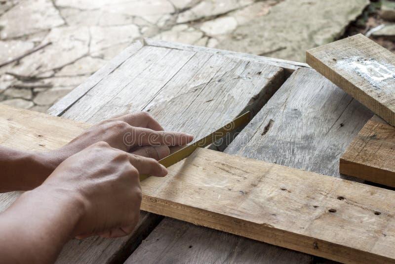 非职业木匠 库存照片