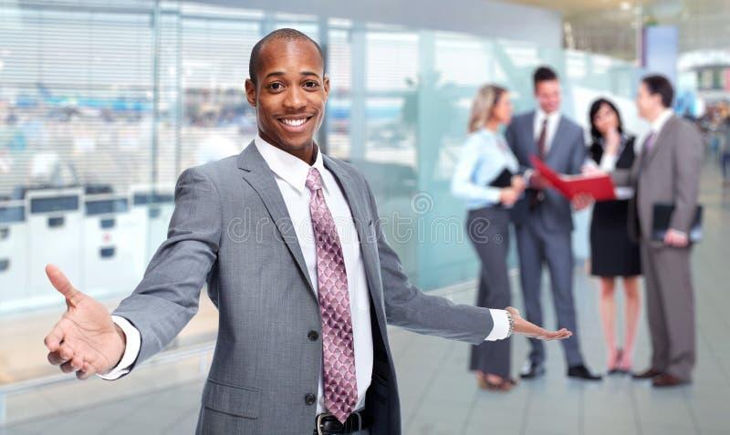 非裔美国人的人和企业队 库存图片