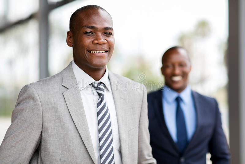 非裔美国人的商业主管 免版税库存照片