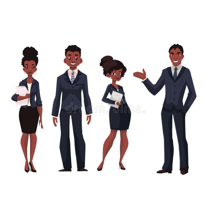 非裔美国人的商人和女实业家 向量例证