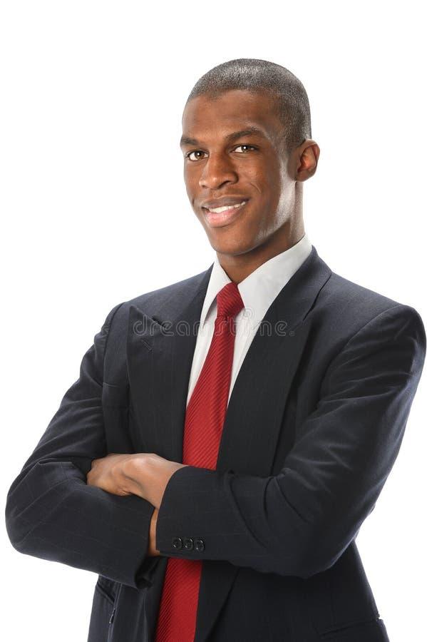 非裔美国人的商人画象  库存图片