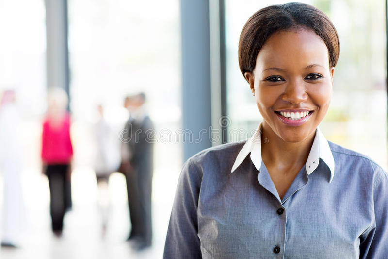 非裔美国人的女商人 免版税库存照片