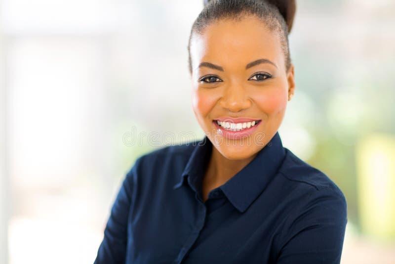 非裔美国人的女实业家 免版税库存照片