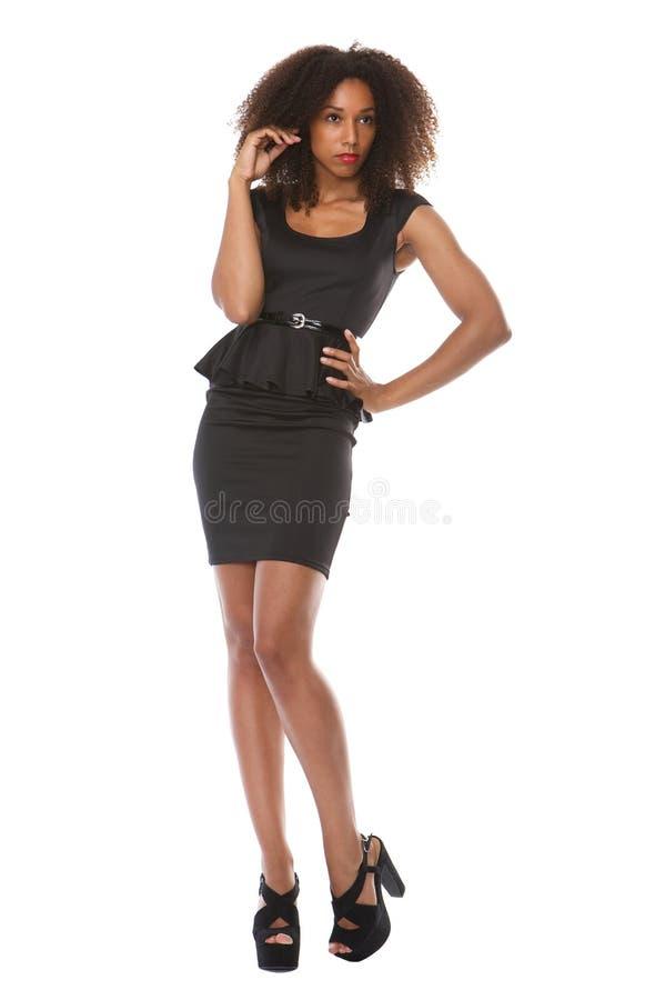 非裔美国人的女性时装模特儿 免版税图库摄影