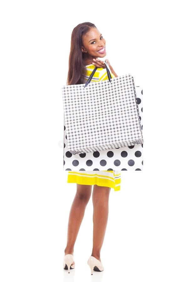 非裔美国人的妇女购物 库存图片