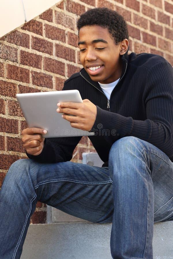 非裔美国人的少年 库存照片
