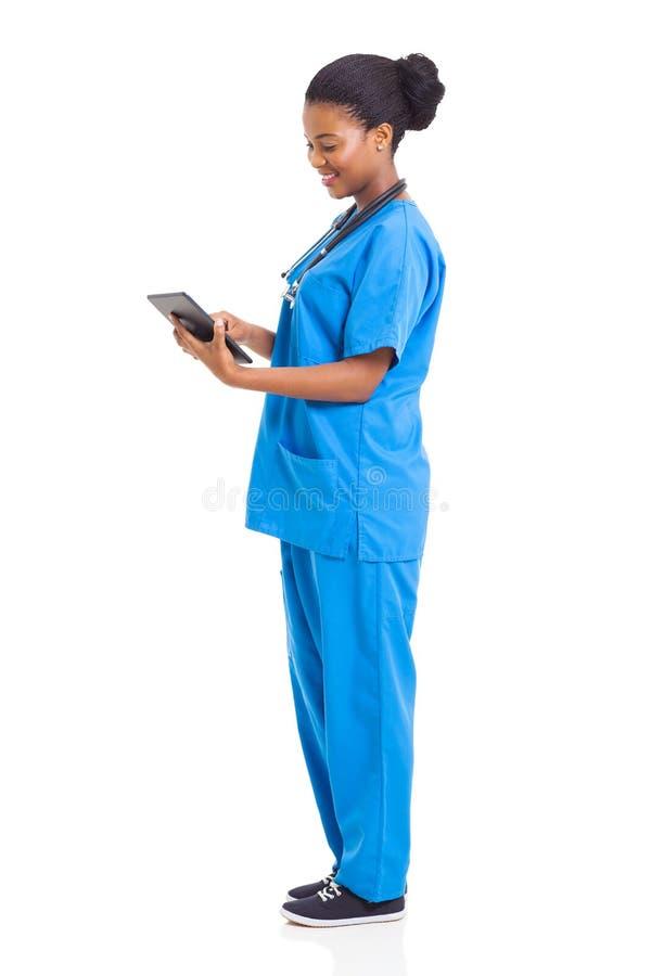 非裔美国人的护士 图库摄影