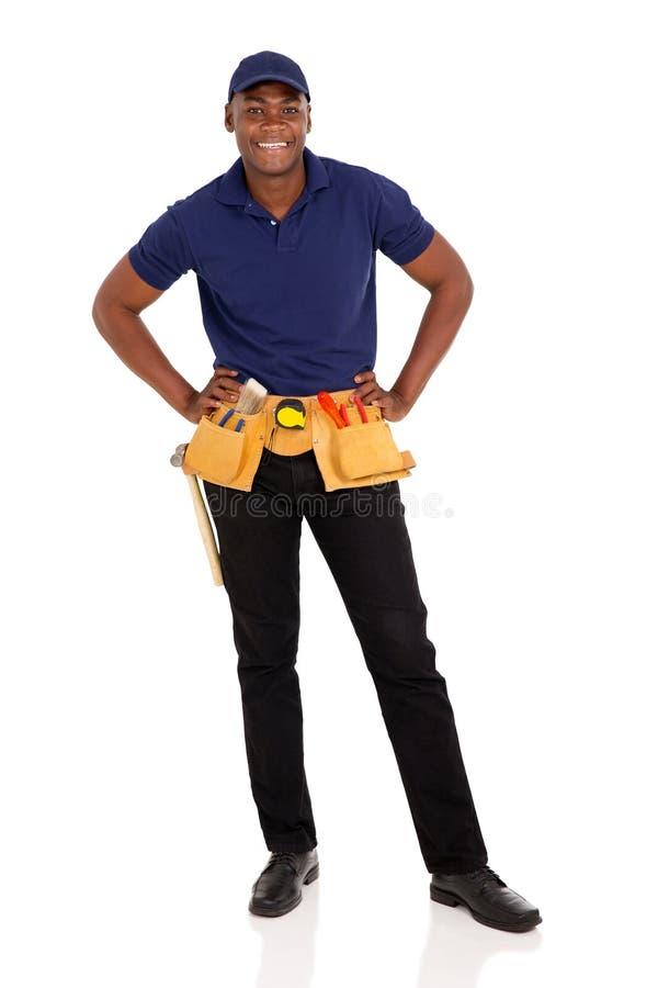 非裔美国人的杂物工 免版税库存照片