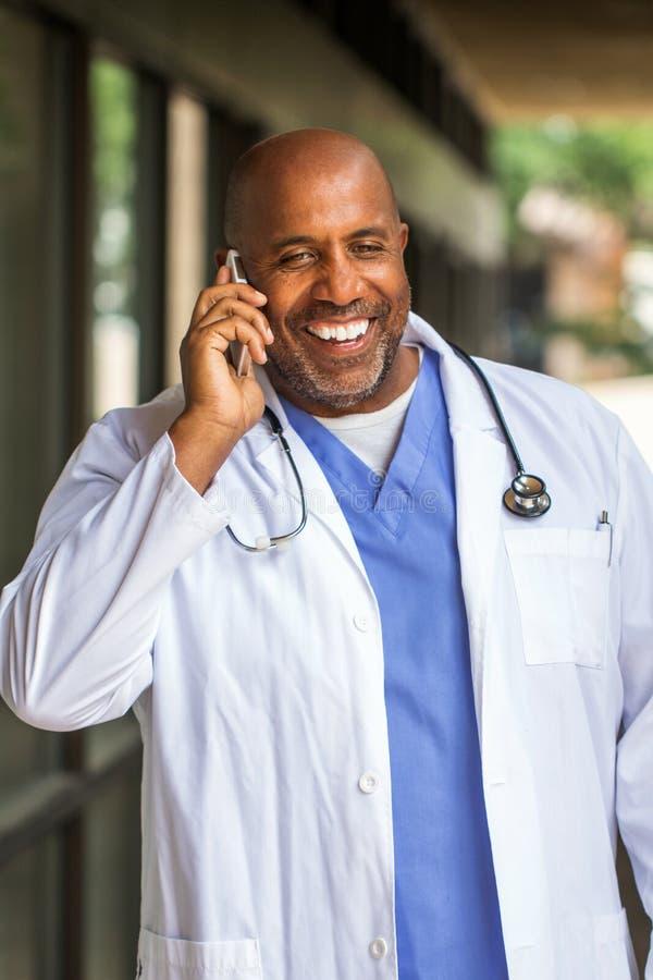 非裔美国人的医生 免版税库存图片