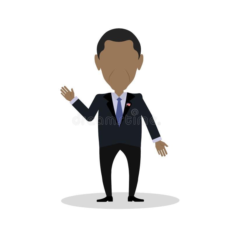 非裔美国人的总统 库存例证